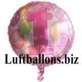 Partydekoration zum 1. Geburtstag, Folien-Luftballon, Zahl 1, Happy 1st Birthday