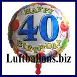 Luftballon Balloons Birthday, Geburtstag 40