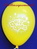 Neueröffnung Luftballons, New Open, Gelb