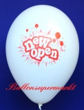 Neueröffnung Luftballons, New Open, Weiß