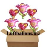 Geburtstagsgeschenk, Luftballons mit Helium im Karton, Happy Birthday, Get Well Soon