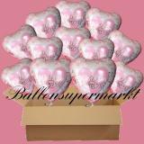 18 Luftballons mit Helium zur Hochzeit, Wedding Wishes, Glückwünsche zur Hochzeit, Folienballone