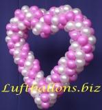 Herz aus Luftballons, Hochzeitsdekoration