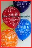 Luftballon, Rund, Herzlichen Glückwunsch, 30 cm, 1 Stück