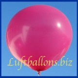 Großer Luftballon, Rund, 48-51 cm, Farbe Magenta