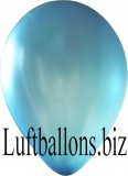 Luftballons Metallic, Blau, 100 Stück, 30 cm