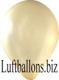 Luftballons Metallic, Elfenbein, 10 Stück, 30 cm