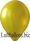 Luftballons Metallic, Gelb, 10 Stück, 30 cm
