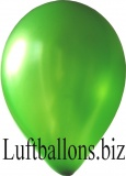 Luftballons Metallic, Grün, 100 Stück, 30 cm