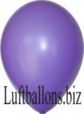 Luftballons Metallic, Lila, 100 Stück, 27 - 30 cm