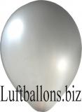 Luftballons Metallic, Silber, 100 Stück, 30 cm