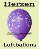 Luftballons mit Herzen, 10 Stück, bunte Farben