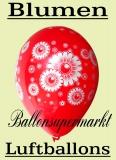Blumen Luftballons, Ballons mit Margeriten, 10 Stück, in bunten Farben