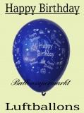 Luftballons mit Happy Birthday, 10 Stück, bunte Ballons aus Latex
