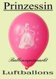 Luftballons mit Prinzessin, 10 Stück, Ballons aus Latex