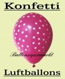Luftballons mit Punkten, 10 Stück, bunte, gepunktete Ballons aus Latex