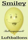 Luftballons mit Smiley, 10 Stück, gelb,  Ballons aus Latex