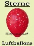 Luftballons mit Sternen, 10 Stück, bunt, Ballons aus Latex