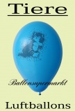 Luftballons mit Tieren, 10 Stück, bunt, Ballons aus Latex