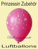 Luftballons Princess Accessories, 10 Stück, bunt, Ballons aus Latex
