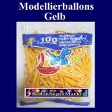Modellierballons, Gelb, 100 Stück