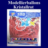 Modellierballons, Kristallrot, 100 Stück