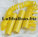 Luftschlangen Gelb, 1 Rolle