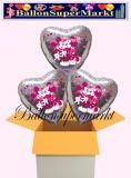 Mickey and Minnie Holo Herzluftballons mit Helium, Kindergeburtstag Geschenke, 3 Stück