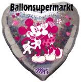 Mickey Minnie Mouse Hug Luftballon mit Helium, Kindergeburtstag u. Geschenk
