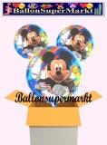 Micky Clubhouse Rundluftballons mit Helium, Kindergeburtstag Geschenke, 3 Stück
