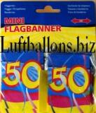 Geburtstag Dekoration, Mini-Flaggenbanner, 50. Geburtstag