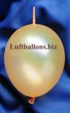 Mini-Girlanden-Luftballons, Gold, Metallic, 15 cm, 100 Stück