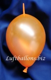 Mini-Girlanden-Luftballons, Orange, Metallic, 15 cm, 100 Stück
