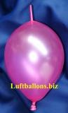 Mini-Girlanden-Luftballons, Pink, Metallic, 15 cm, 100 Stück