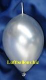 Mini-Girlanden-Luftballons, Silber, Metallic, 15 cm, 100 Stück