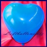 Mini-Herzluftballons, 8-12 cm, Blau, 100 Stück