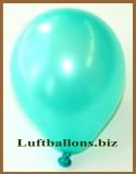 Mini-Luftballons, Metallicfarben, Aquamarin, 50 Stück