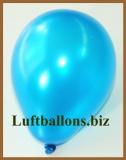 Mini-Luftballons, Metallicfarben, Blau, 50 Stück