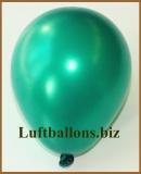 Mini-Luftballons, Metallicfarben, Dunkelgrün, 50 Stück