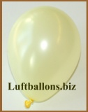 Mini-Luftballons, Metallicfarben, Elfenbein, 50 Stück