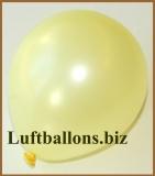 Mini-Luftballons, Metallicfarben, Hellgelb, 100 Stück