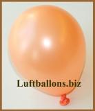 Mini-Luftballons, Metallicfarben, Lachs, 50 Stück