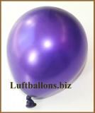Mini-Luftballons, Metallicfarben, Lila, 100 Stück