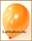 Mini-Luftballons, Metallicfarben, Orange, 50 Stück
