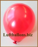 Mini-Luftballons, Metallicfarben, Rot, 50 Stück