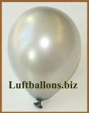 Mini-Luftballons, Metallicfarben, Silber, 50 Stück