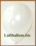 Mini-Luftballons, Metallicfarben, Weiß, 50 Stück