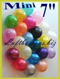 "Mini-Luftballons, Hellblau, Metallic, 7"", 12-16 cm, 100 Stück"