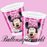 Partybecher Minni Maus, Minnie Mouse Trinkbecher