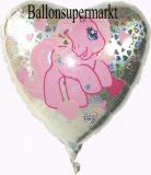 My Little Pony Love Herz Luftballon mit Helium, Kindergeburtstag u. Geschenk